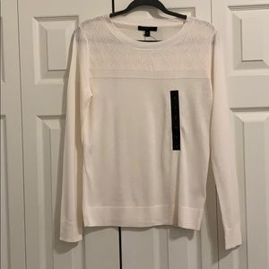 NWT Banana Republic Cream Diamond Sweater